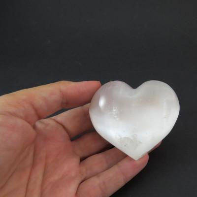 Selenita, forma corazón