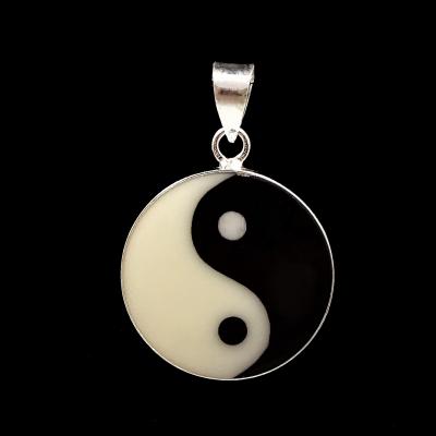 Colgante Yin-Yang en plata de 1ª ley