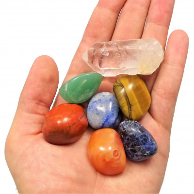 Conjunto piedras de los 7 chakras
