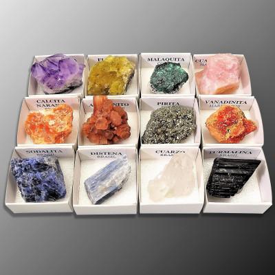 Colección de minerales 12 unidades
