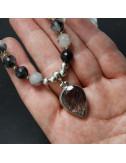Pendientes de piedra de luna y plata de 1ª ley