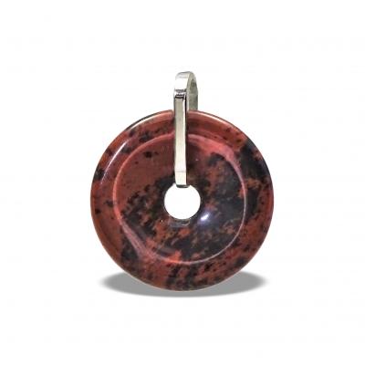 Donut Mediano Obsidiana Caoba y plata 1ª ley