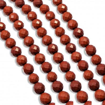 Hilo Jaspe Rojo facetado 10 mm