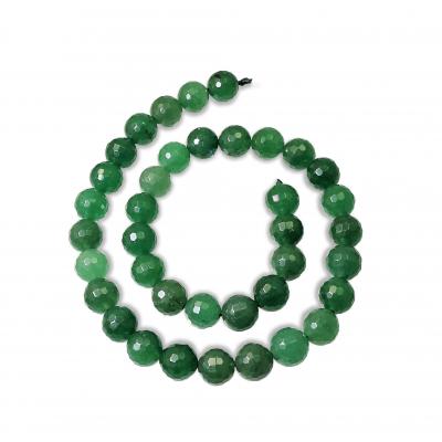 Hilo Cuarzo Verde 10 mm Facetada