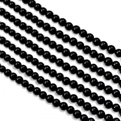 Hilo de Turmalina Negra 4 mm