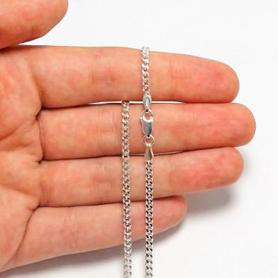 Cadena de plata 1ª ley 45 cm 070245