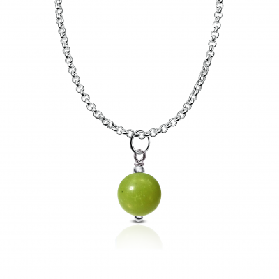 Colgante Minimalist Jade y plata de 1ª ley