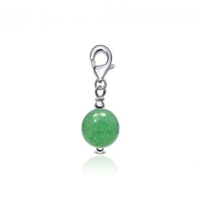 Fetiche Charm Cuarzo Verde y plata de 1ª ley