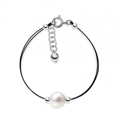 Pulsera Tiny Perla y plata de 1ª ley