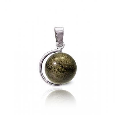 Colgante Balloon Obsidiana dorada y plata de 1ª ley