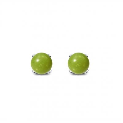Conjunto Minimalist Jade nefrita y plata de 1ª ley