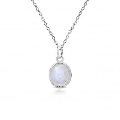 Colgante Briolette Piedra de Luna y plata de 1ª ley