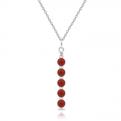 Colgante Essential Jaspe Rojo y plata de 1ª ley