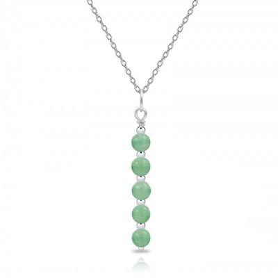 Colgante Essential Cuarzo Verde y plata de 1ª ley
