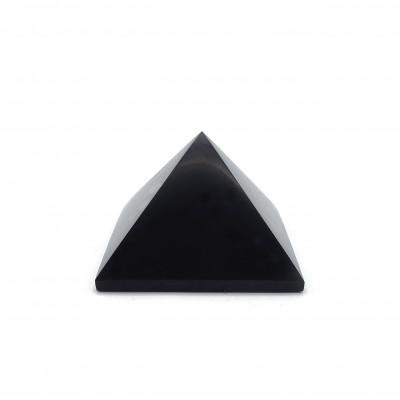 Pirámide Shungit 5 cm Brillo
