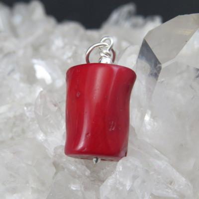 Colgante coral rojo