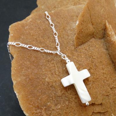 Conjunto cruz nácar