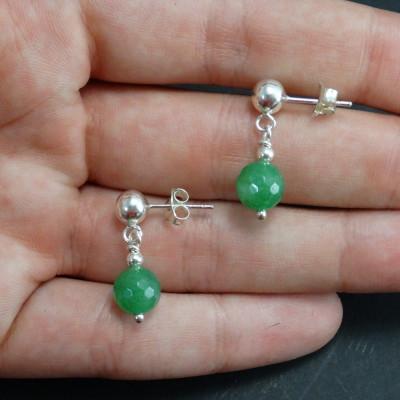 Pendientes cuarzo verde