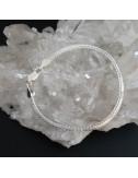 Pendientes cuarzo cristal de roca y turmalina