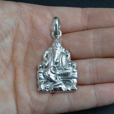 Colgante ganesha plata 925  mm