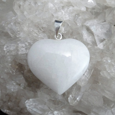 Colgante corazón Cuarzo Lechoso