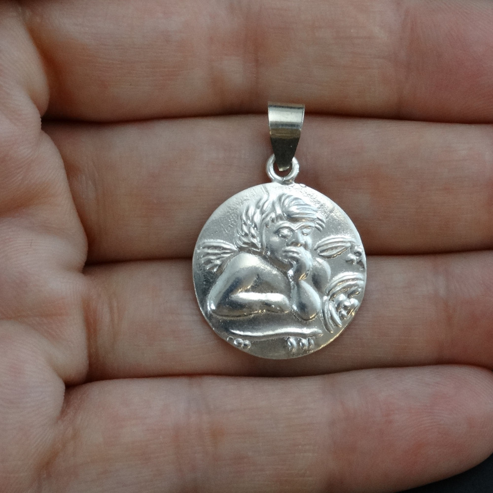 Pendientes aro de plata con piedras semipreciosas