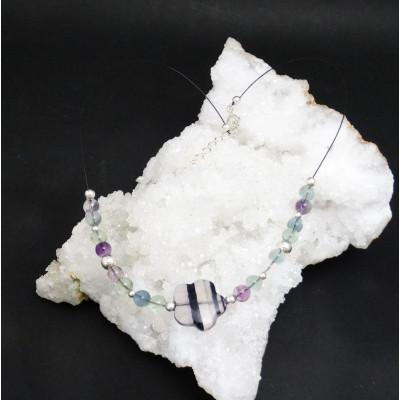 Collar fluorita y plata