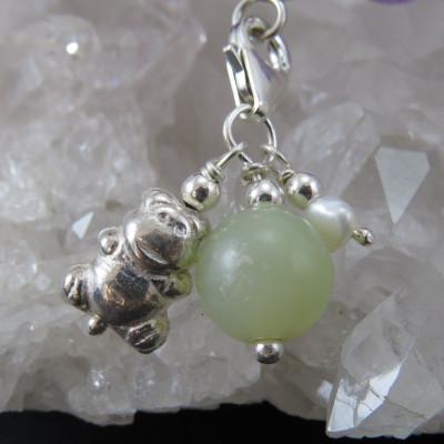 Fetiche charm jade y plata