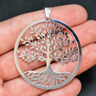 Colgante árbol de la vida en plata 925 mm.