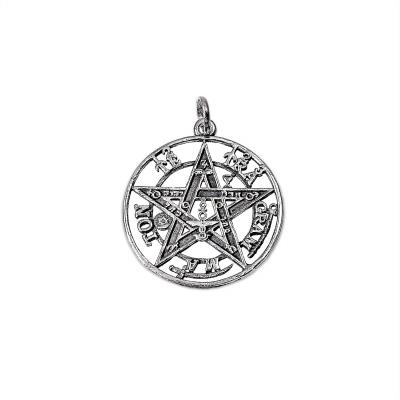 Colgante Tetragramatón pequeño de plata 1ª ley