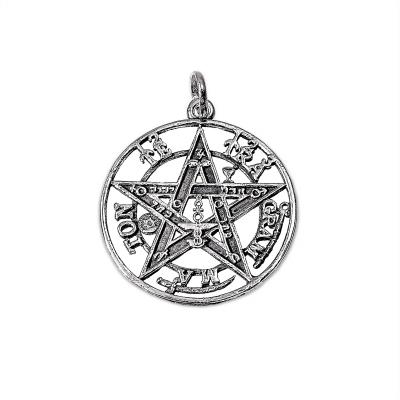 Colgante Tetragramatón mediano de plata 1ª ley