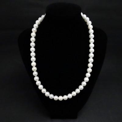 Collar perlas de nácar prensado y plata