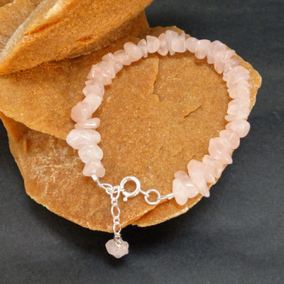Pulsera tauro - cuarzo rosa