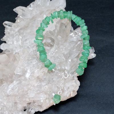 Pulsera virgo - cuarzo verde