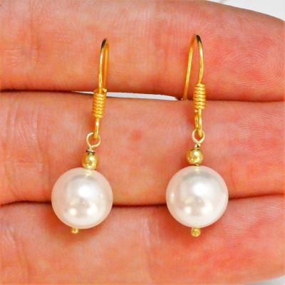 Pendientes perla de nácar