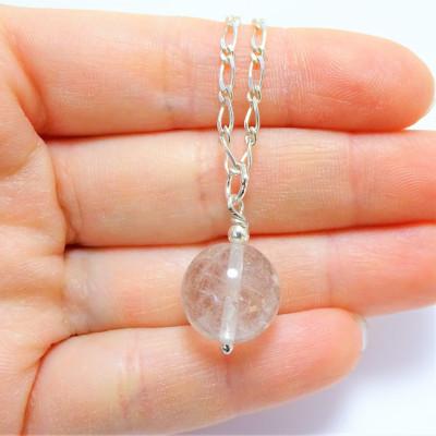 Conjunto cuarzo cristal de roca y plata 1ª ley
