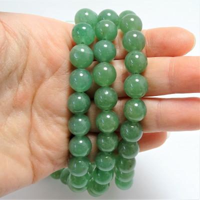 Hilo Aventurina cuarzo verde 10 mm liso