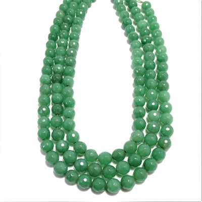 Hilo Aventurina cuarzo verde 8 mm facetado
