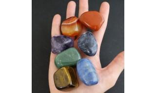 Minerales rodados y planos